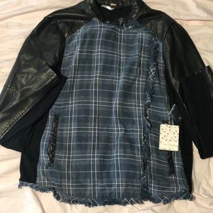 Free People Black Combo Jacket